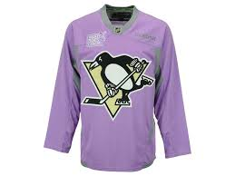 Pittsburgh Penguins Hockey Fights Cancer practice Jersey
