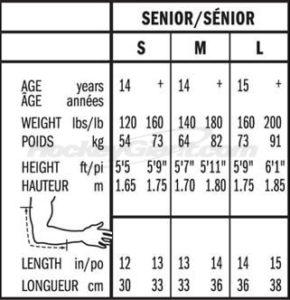 hockey elbow pads sizing
