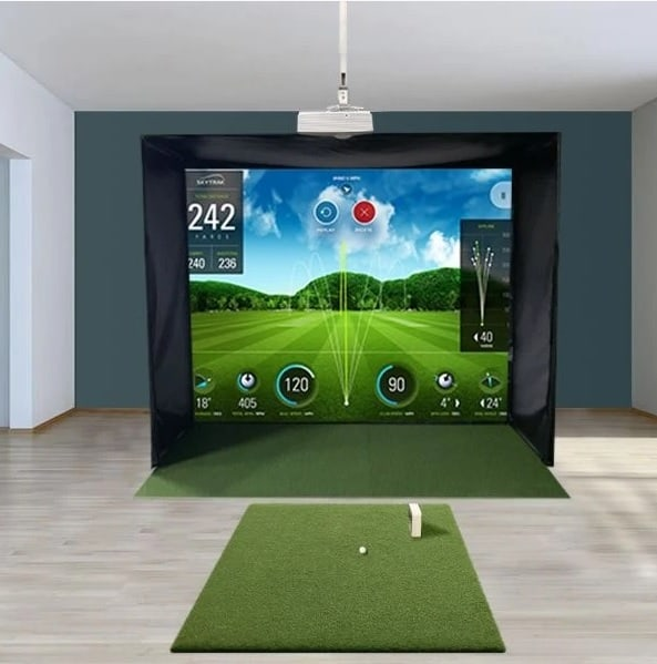 SwingBay Golf Simulator Enclosure